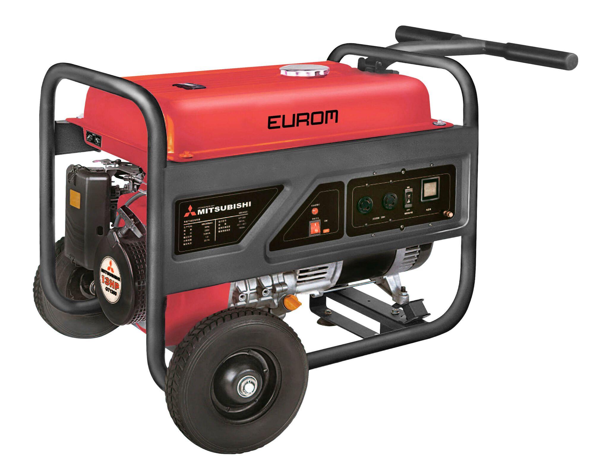 Eurom MM6500 Benzine generator 4.400W | Aggregaat 5,5 kVa Mitsubishi motor 230V
