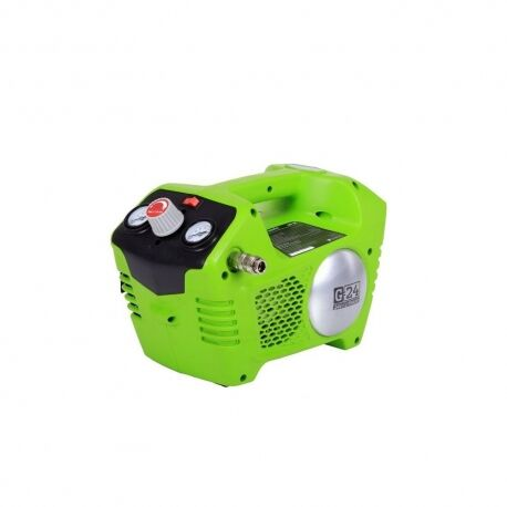 Greenworks G24AC Accu compressor | 24 Volt compressor met 2 liter tank zonder accu en lader