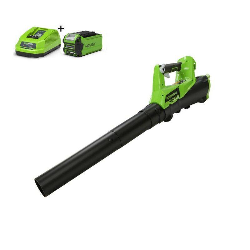 Greenworks G40ABK2 Draadloze bladblazer | Accu bladruimer met 2Ah accu en lader