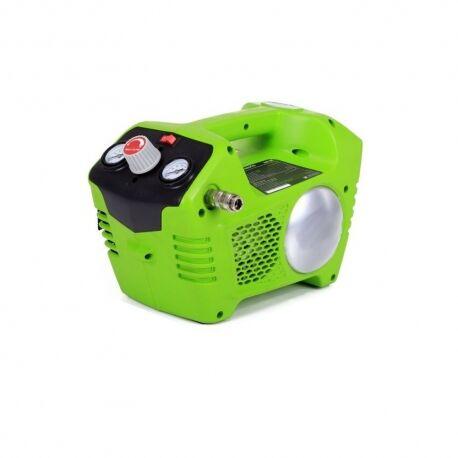 Greenworks G40AC Accu compressor | 40 Volt compressor met 2 liter tank zonder accu en lader