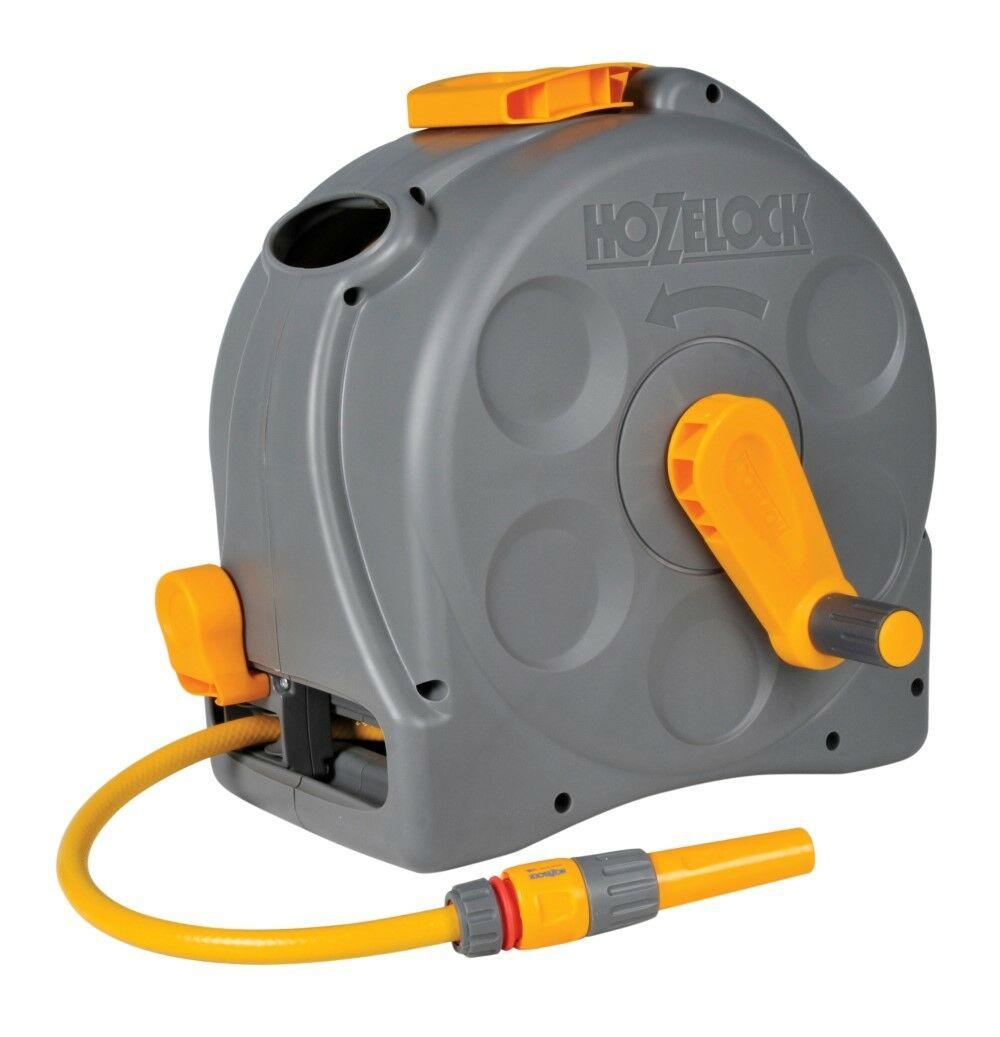 Hozelock Compact Reel 2 in 1 + 25 m slang | Hozelock Compact Reel | Incl. startset koppelingen en tuinspuit