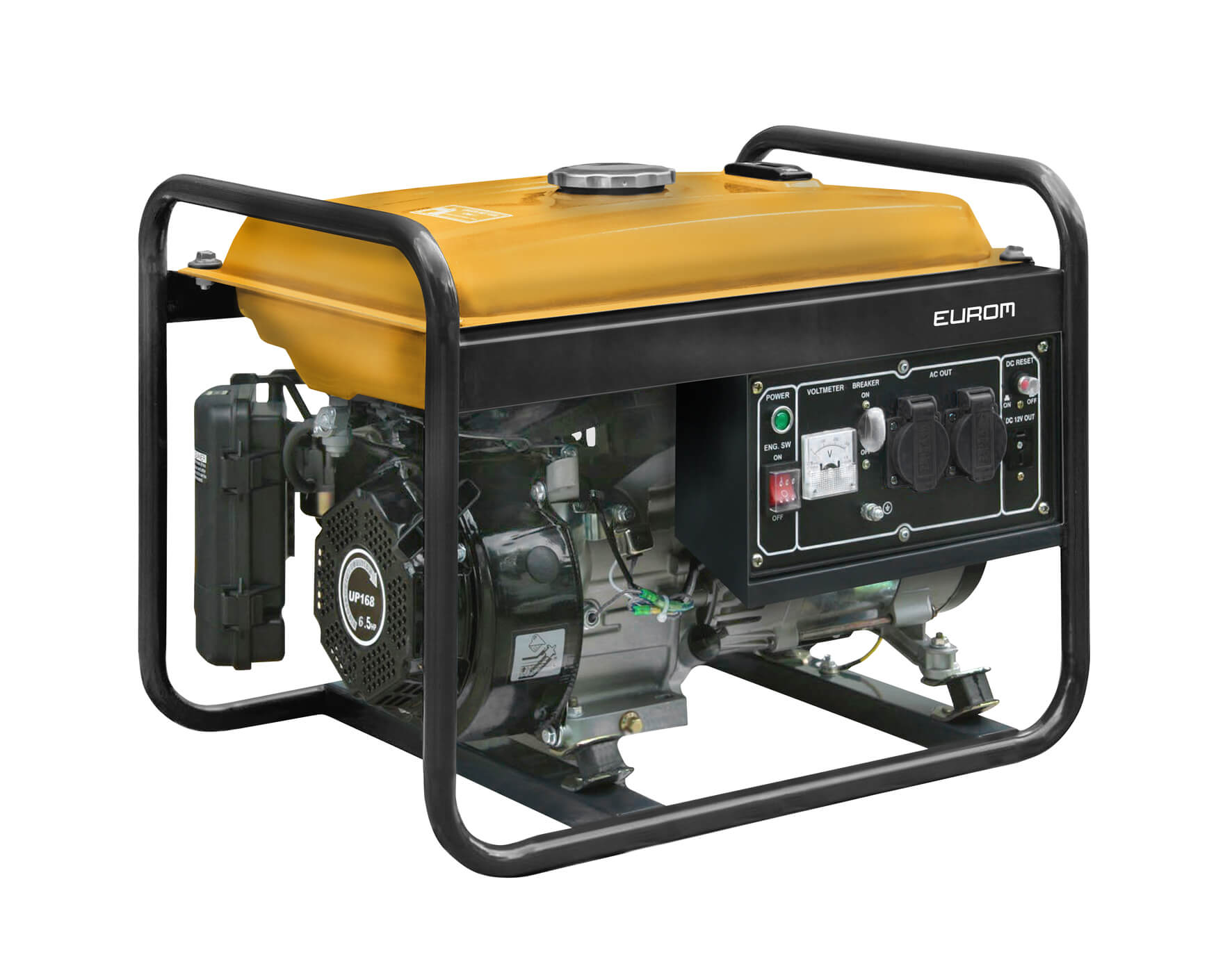 Eurom GE2501 Benzine generator 196cc | Aggregaat 2200W 230V