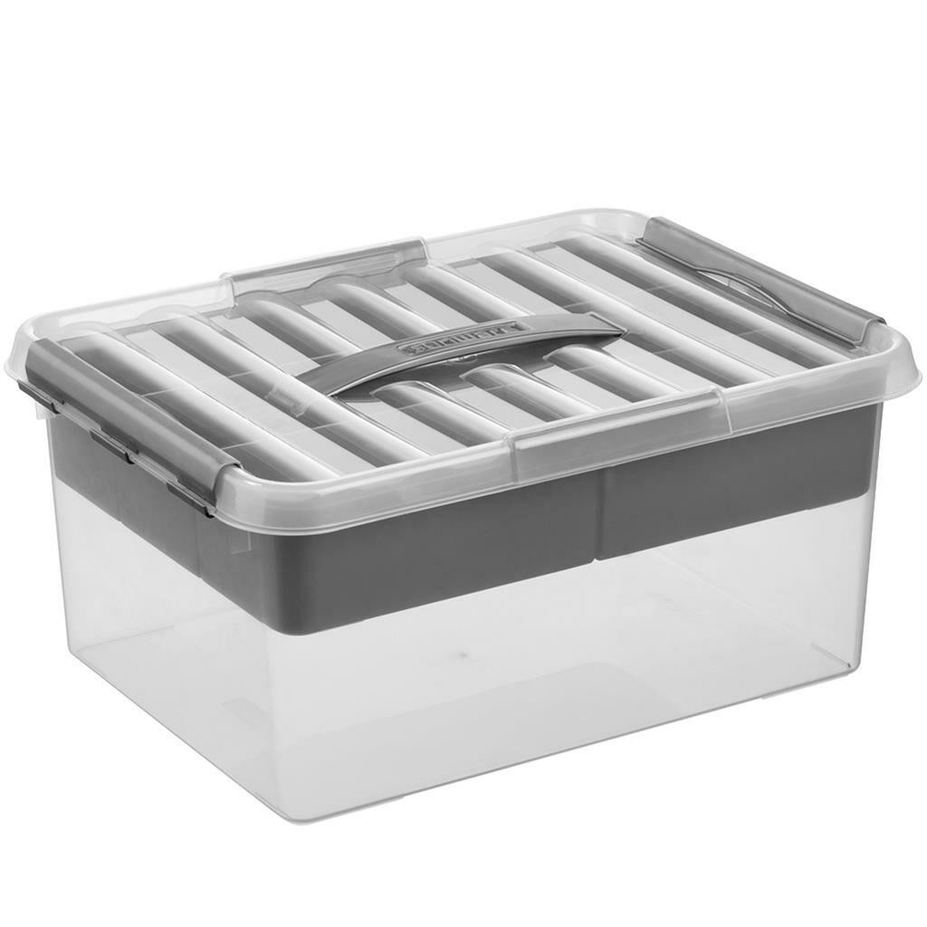 Sunware Opbergbox Q-Line Transparant 15 Liter
