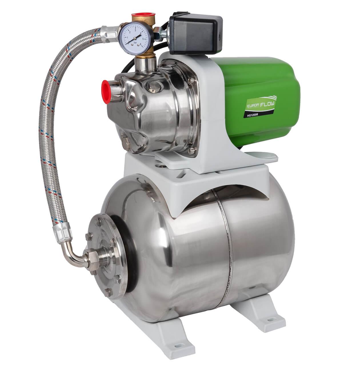 Eurom Flow HG 1200R Drukpomp 1200W | Hydrofoorgroep waterpomp