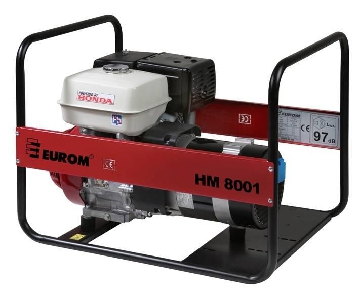 Eurom HM8001 Benzine generator 389cc | Aggregaat 6,6 kVa | Honda motor 230V