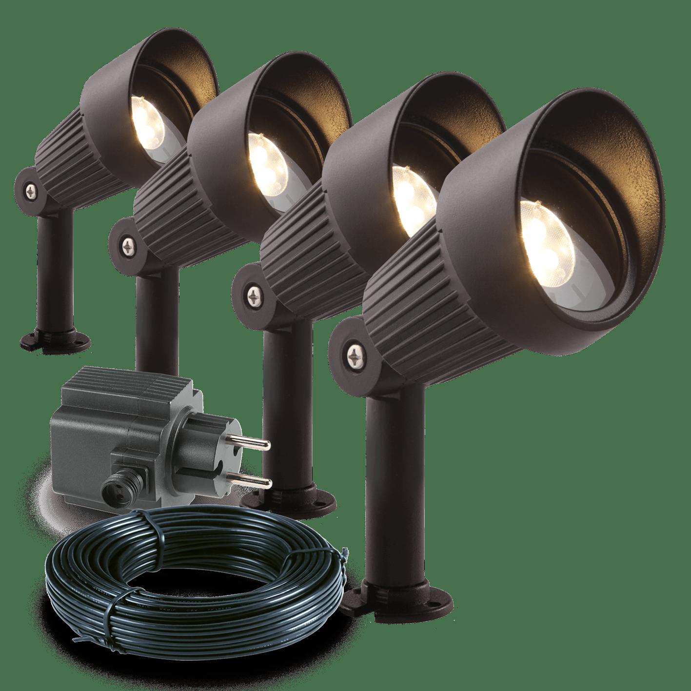 Garden Lights Buitenlamp Focus LED Set 4 Stuks | Tuinverlichting