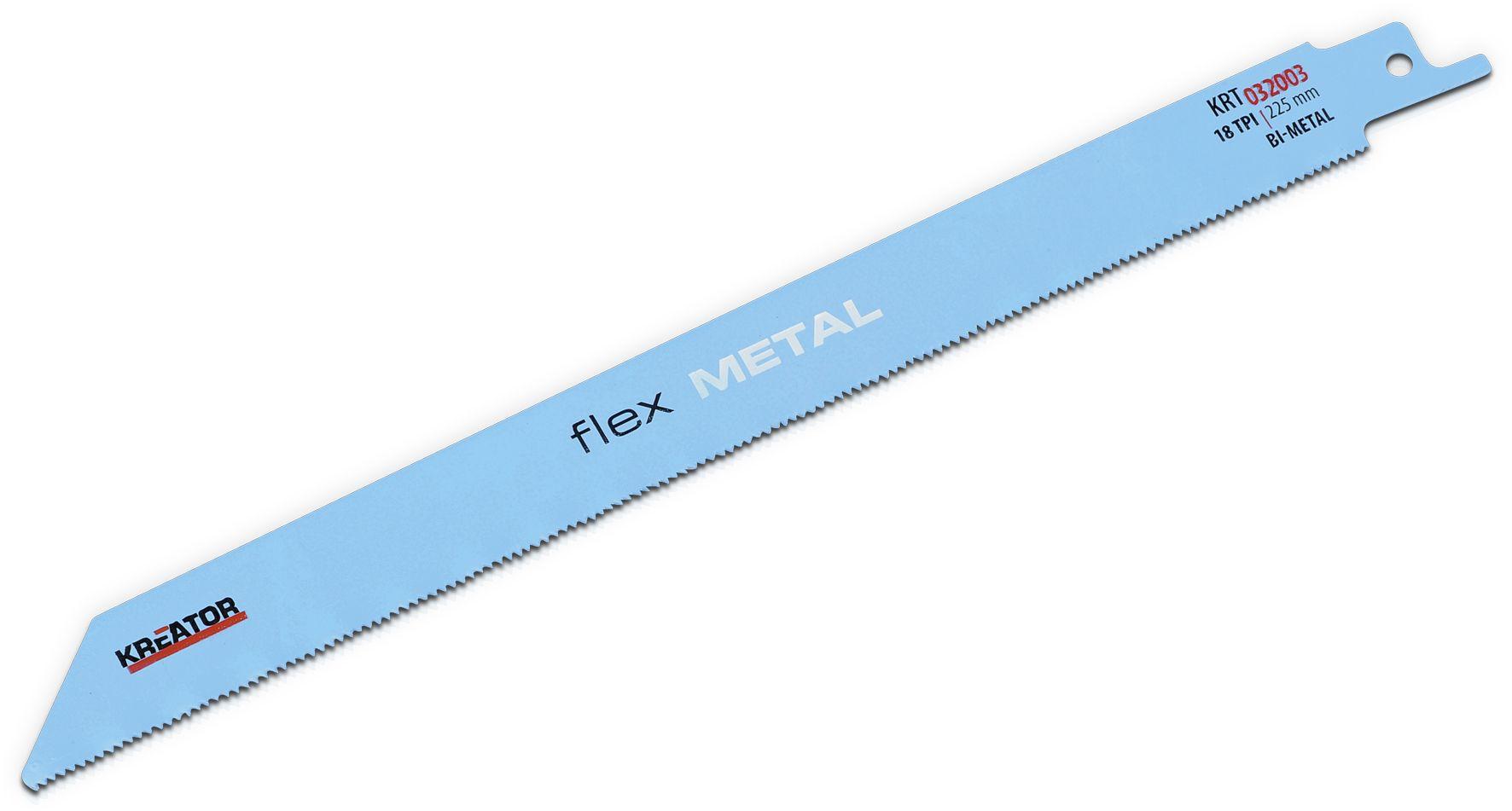 Kreator KRT032003 225mm Reciprozaagbladen   Zaagblad reciprozaag voor metaal