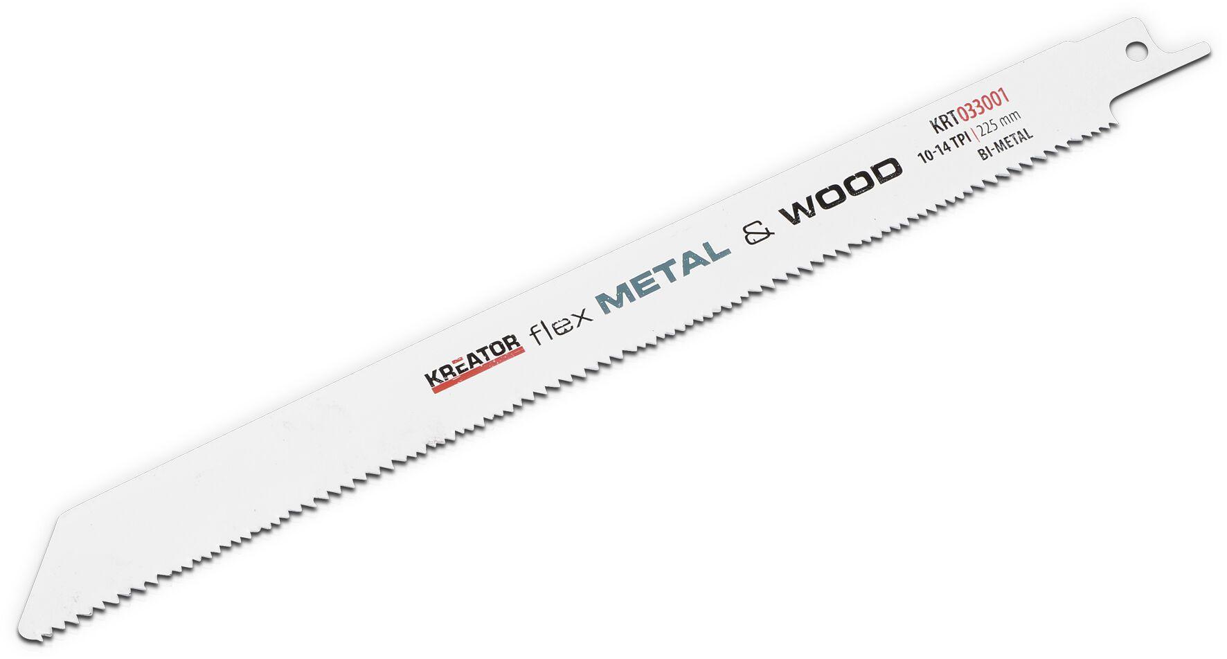 Kreator KRT033001 225mm Reciprozaagbladen   Zaagblad reciprozaag hout en metaal