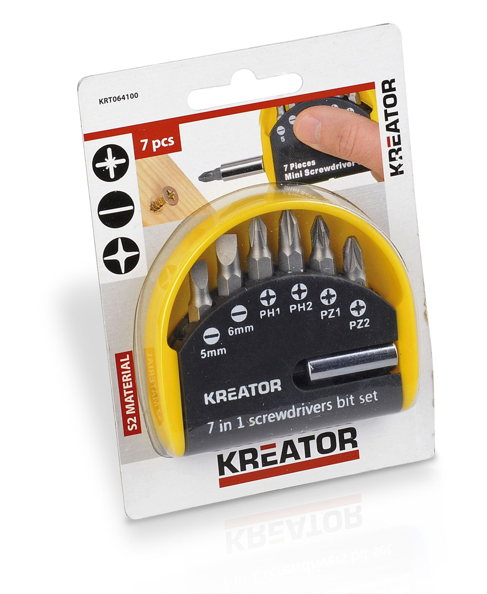 Kreator KRT064100 Bitset | 7-delige set bitjes