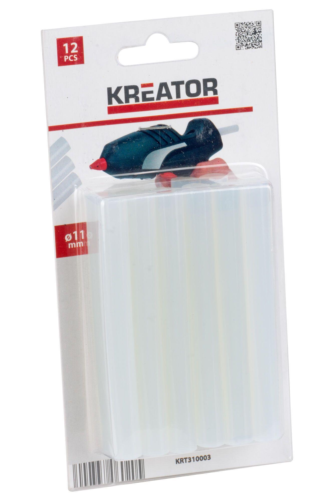 Kreator KRT310003 12 Lijmsticks voor lijmpistool | 11 mm gluesticks