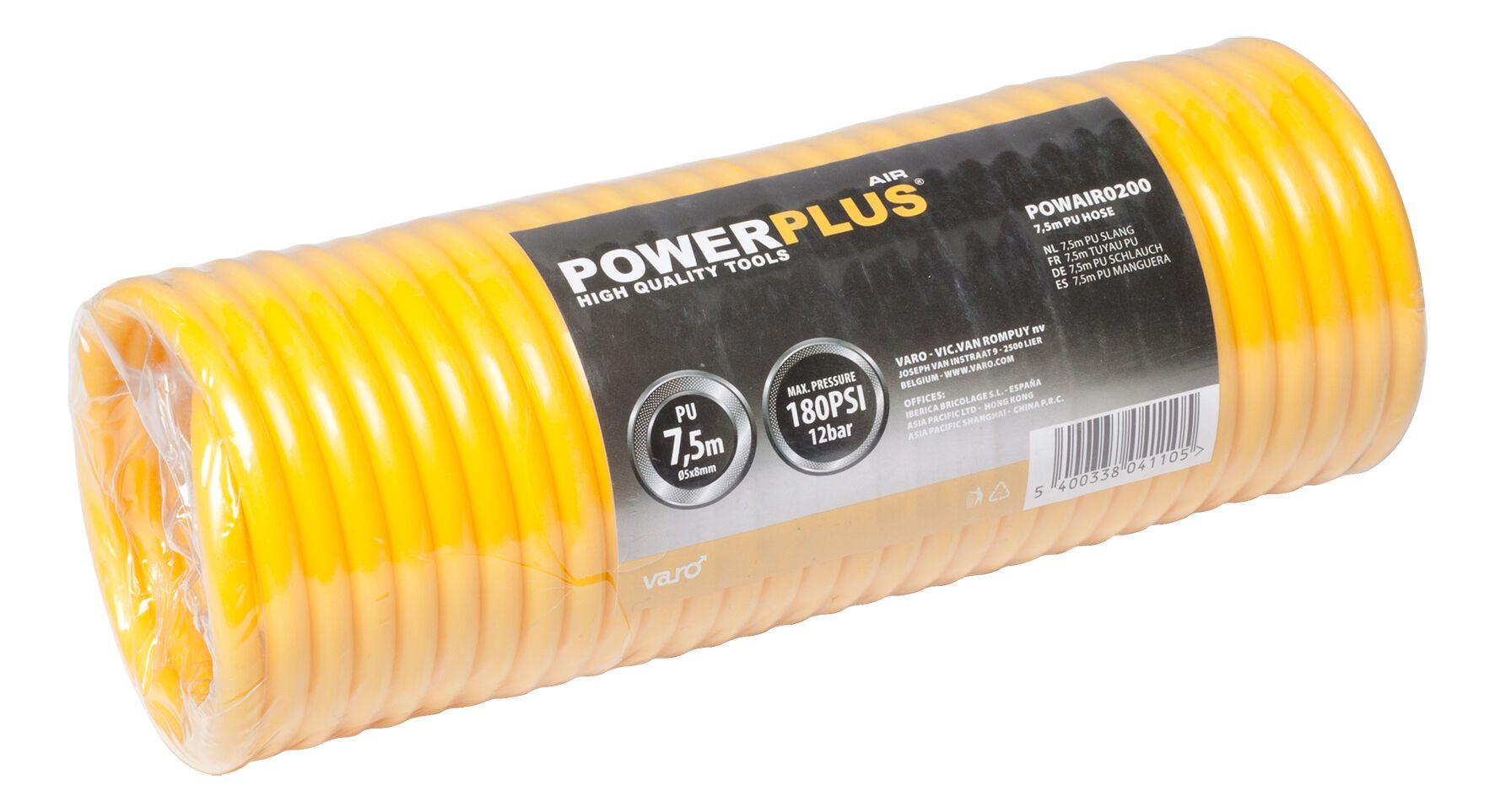 Powerplus POWAIR0200 Compressor slang 7,5m | Luchtslang PU | Compressorslang
