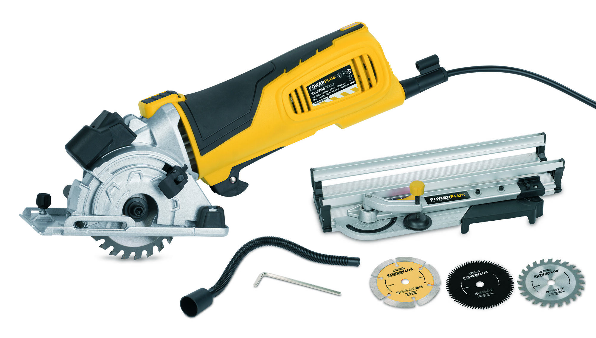 Powerplus POWX1365MB Cirkelzaag met verstekbak 600W | Cirkelzaagmachine D89mm